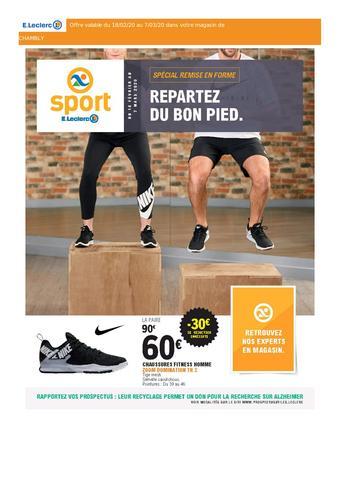 E.Leclerc Sports catalogue publicitaire (valable jusqu'au 03-03)