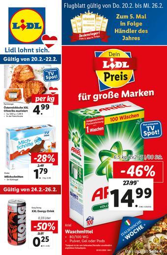 Lidl Werbeflugblatt (bis einschl. 26-02)