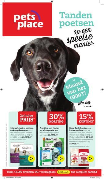 Pets Place reclame folder (geldig t/m 08-03)