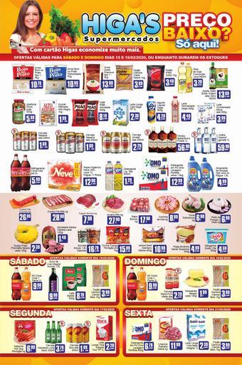 Higa's Supermercado catálogo promocional (válido de 10 até 17 21-02)