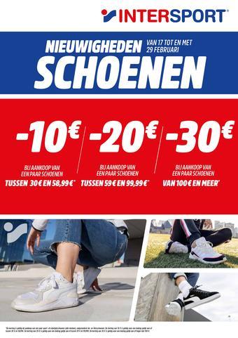 Intersport reclame folder (geldig t/m 29-02)