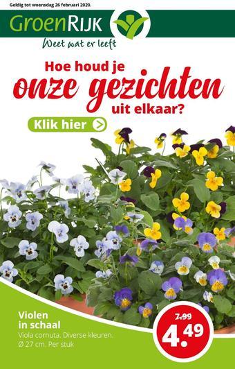 GroenRijk reclame folder (geldig t/m 26-02)