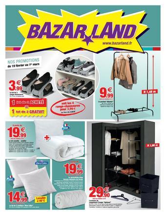 Bazarland catalogue publicitaire (valable jusqu'au 01-03)
