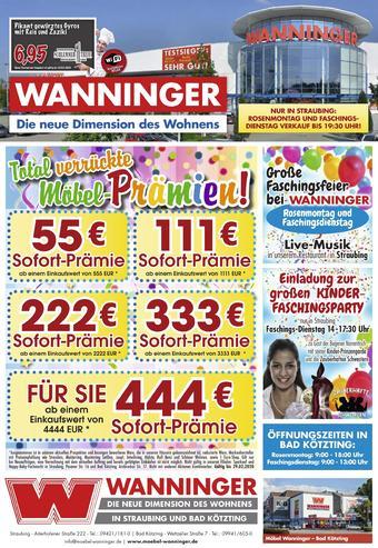 Möbel Wanninger Prospekt (bis einschl. 29-02)