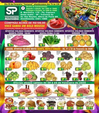 Primavera Supermercado catálogo promocional (válido de 10 até 17 25-02)