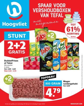 Hoogvliet reclame folder (geldig t/m 03-03)