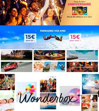 Wonderbox catalogue publicitaire (valable jusqu'au 20-04)