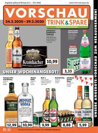 Trink und Spare Prospekt (bis einschl. 29-02)