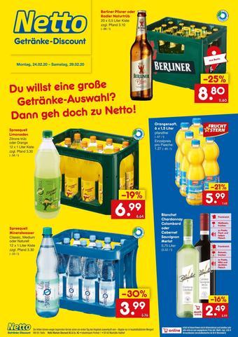 Netto Getränke Discount Prospekt (bis einschl. 29-02)