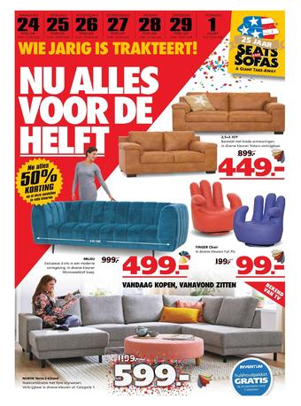 Seats and Sofas reclame folder (geldig t/m 01-03)