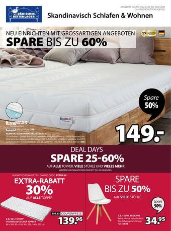 Dänisches Bettenlager Prospekt (bis einschl. 29-02)