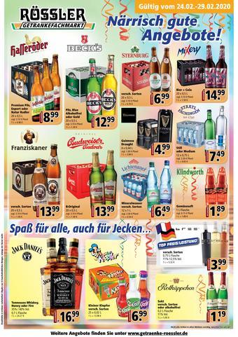 Getränke Rössler Prospekt (bis einschl. 29-02)