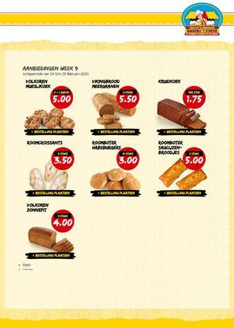 Bakkerij 't Stoepje reclame folder (geldig t/m 29-02)