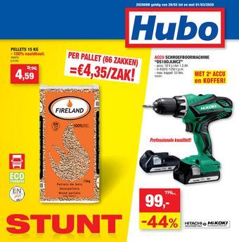 Hubo reclame folder (geldig t/m 01-03)