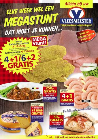 Vleesmeester reclame folder (geldig t/m 03-03)