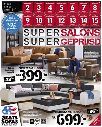 Seats and Sofas reclame folder (geldig t/m 15-03)