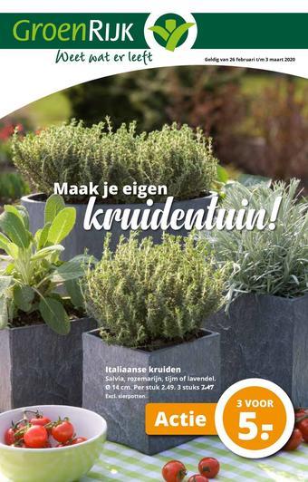 GroenRijk reclame folder (geldig t/m 03-03)