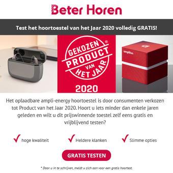 Beter Horen reclame folder (geldig t/m 30-04)