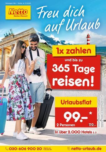 Netto Reisen Prospekt (bis einschl. 31-03)