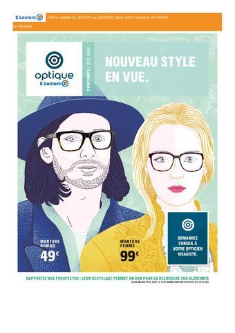 E.Leclerc Optique catalogue publicitaire (valable jusqu'au 22-08)