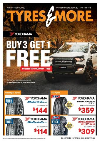 Tyres & More catalogue (valid until 30-04)