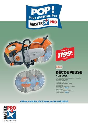 Master Pro catalogue publicitaire (valable jusqu'au 10-04)