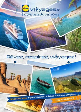 Lidl Voyages catalogue publicitaire (valable jusqu'au 01-10)
