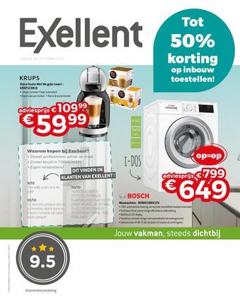 Exellent reclame folder (geldig t/m 31-03)