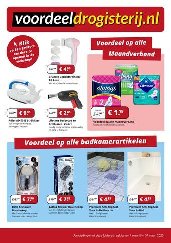 Voordeeldrogisterij.be reclame folder (geldig t/m 31-03)