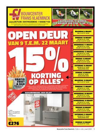 Bouwcenter Frans Vlaeminck reclame folder (geldig t/m 31-03)