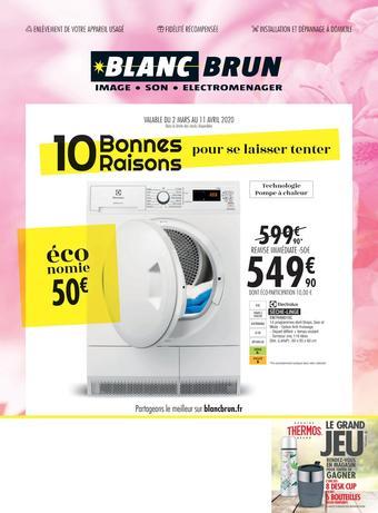 Blanc Brun catalogue publicitaire (valable jusqu'au 11-04)