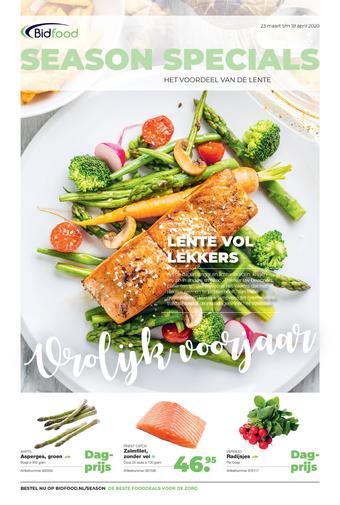 Bidfood reclame folder (geldig t/m 18-04)