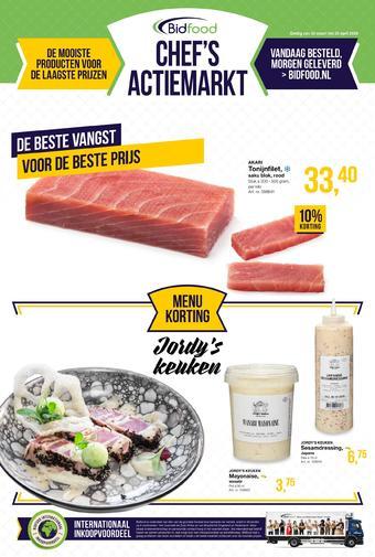 Bidfood reclame folder (geldig t/m 25-04)