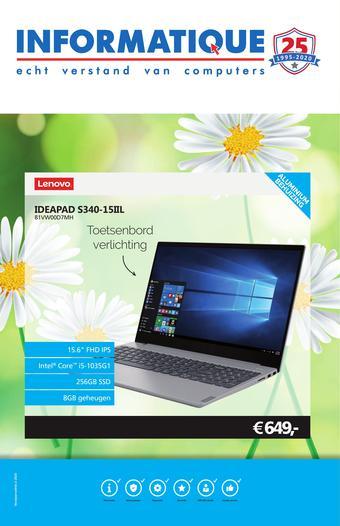 Informatique reclame folder (geldig t/m 05-04)