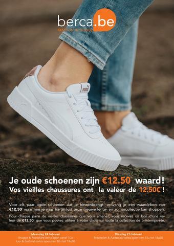 Berca Shoes reclame folder (geldig t/m 05-04)