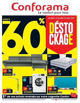 Conforama catalogue publicitaire (valable jusqu'au 30-03)