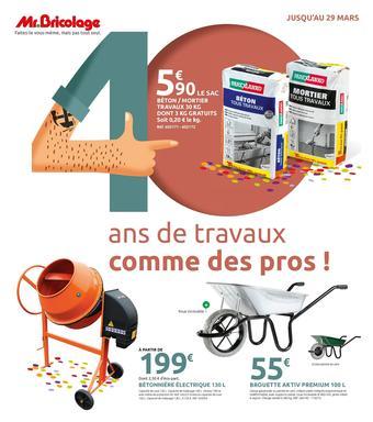 Mr Bricolage catalogue publicitaire (valable jusqu'au 29-03)