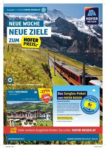 Hofer Reisen Werbeflugblatt (bis einschl. 07-04)