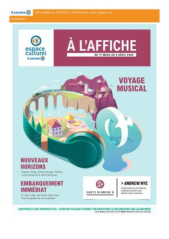 Espace Culturel E.Leclerc catalogue publicitaire (valable jusqu'au 04-04)