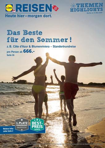 Lidl Reisen Werbeflugblatt (bis einschl. 14-04)