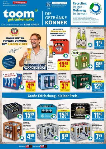 toom Getränkemarkt Prospekt (bis einschl. 28-03)