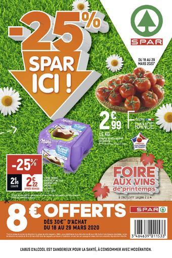 Spar catalogue publicitaire (valable jusqu'au 29-03)