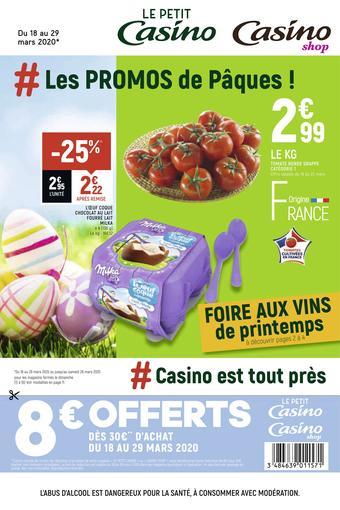 Petit Casino catalogue publicitaire (valable jusqu'au 29-03)