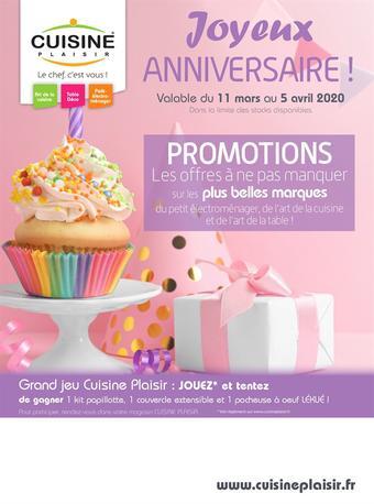 Cuisine Plaisir catalogue publicitaire (valable jusqu'au 05-04)