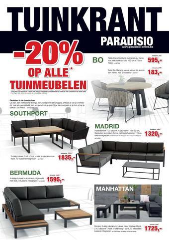 Paradisio reclame folder (geldig t/m 11-04)
