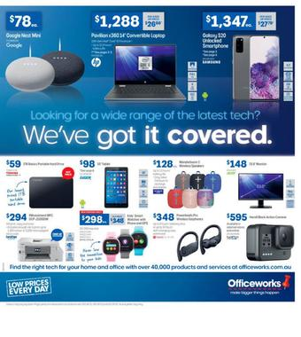 Officeworks catalogue (valid until 09-04)