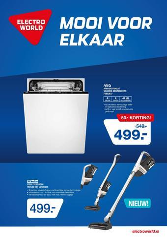 Electroworld reclame folder (geldig t/m 05-04)