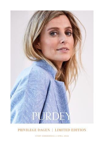 Purdey reclame folder (geldig t/m 31-05)
