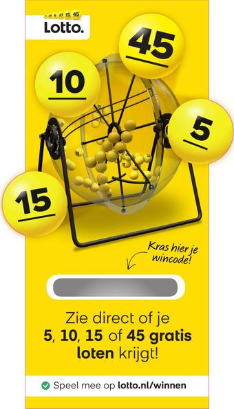 Lotto reclame folder (geldig t/m 11-04)