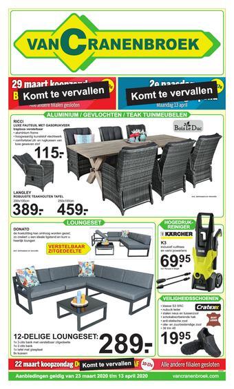 Van Cranenbroek reclame folder (geldig t/m 13-04)